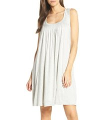 women's papinelle pleat nightgown, size x-small - grey