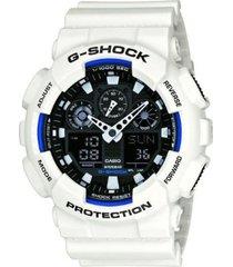 reloj g shock ga_100b_7a blanco resina