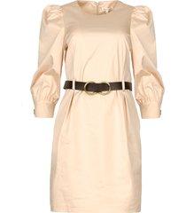 katoenen jurk met ceintuur amir  beige