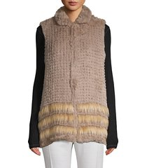 open-front faux fur vest