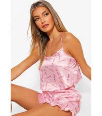 babygirl hemd met franjes en pyjama shorts set, pink