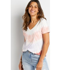 maurices womens 24/7 multi tie dye drop shoulder classic tee