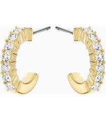 orecchini a cerchio mini, bianco, placcato oro