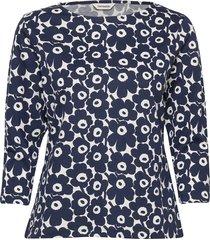 ilma unikko shirt t-shirts & tops long-sleeved blauw marimekko