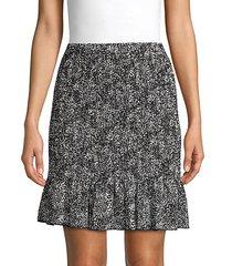 ditsy-print pull-on skirt