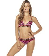 bikini triangulo gipsy multicolor lisantino