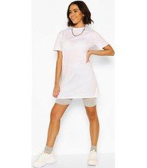 basic long line cotton t-shirt, white