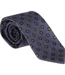 barba napoli light blue virgin wool-silk blend tie