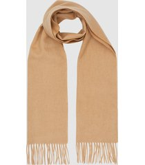 reiss ashton - lambswool cashmere blend scarf in camel, mens