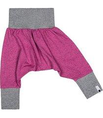 spodnie mini mini - róż melanż