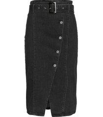 slbeso skirt lång kjol svart soaked in luxury