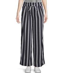 layla striped wide-leg pants
