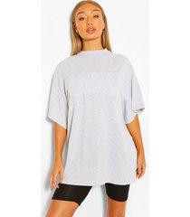ohio applique oversized t-shirt, grey marl