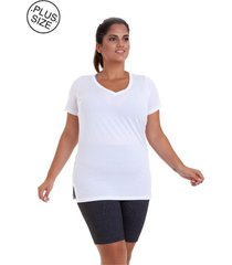 blusa best fit dry plus size branca