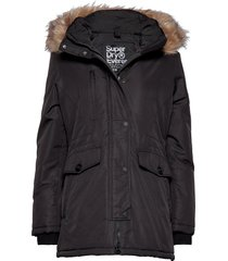 ashley everest parka parka lange jas jas zwart superdry