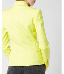 balmain women's 6 button grain de poudre jacket - anis - fr 36/uk 8