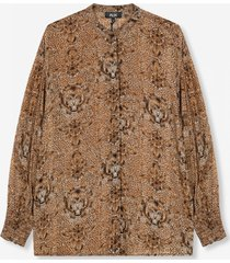 alix the label 204920620 ladies woven animal crepe blouse