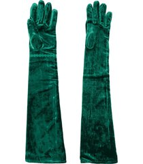 mm6 maison margiela slip-on gloves - green