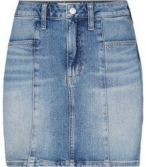 seamed highrise skirt