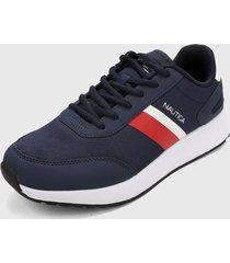 tenis lifestyle azul-rojo nautica aport-2