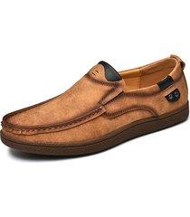 scarpe da uomo in morbida microfibra antiscivolo su scarpe casual