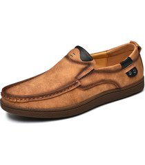 uomo soft in pelle microfibra slip on scarpe casual