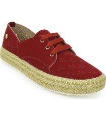 zapato casual yute dama 692202rojo