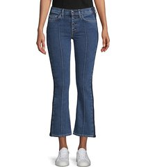 denim cropped flared jeans