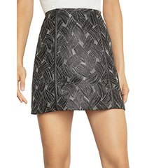 basket weave jacquard mini skirt