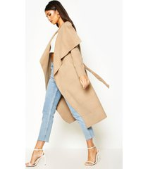 belted shawl collar coat, camel