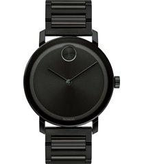 movado bold evolution bracelet watch, 40mm