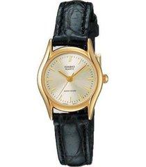 reloj analógico mujer casio ltp-1094q-7a - negro con perlado