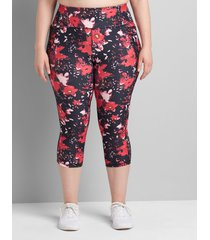lane bryant women's livi high-rise wicking capri legging 38/40 cali dream floral