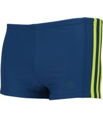 sunga boxer adidas infinitex ec3s bx - adulto - azul esc/verde cla