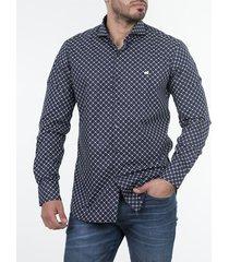 camisa azul mistral emanuelle slim fit