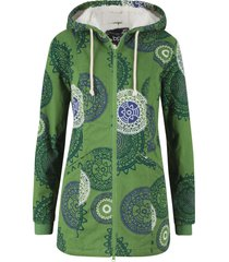 parka in cotone fantasia con cappuccio (verde) - bpc bonprix collection