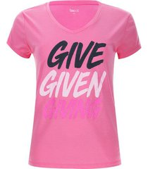 camiseta descanso give color rosado, talla l