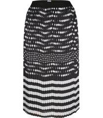 plisserad kjol mona svart::vit