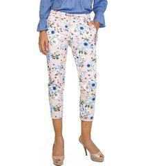 pantalón capri estampado floral rosa unipunto 4997