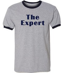 the expert ringer tee barron trump heather grey/navy men's tee shirt 1642