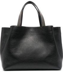 fabiana filippi beaded-handle tote bag - black