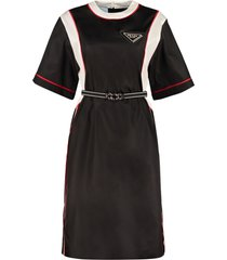 prada belted nylon dress
