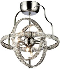 "home accessories katies 17"" 4-light indoor chandelier with light kit"