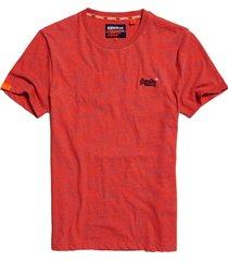 superdry t-shirt m1010024a crew neck tee t1s volcanic orange space dye - oranje