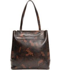 frye charlie simple leather tote - brown