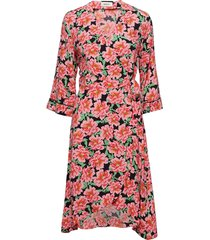 novo print dress jurk knielengte roze modström