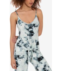 midnight bakery tie-front tie-dyed hacci cami