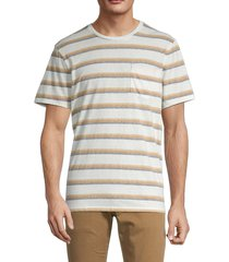 madewell men's striped t-shirt - crystal - size xxl