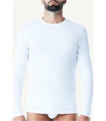 camiseta de manga comprida de algodão supima® intimissimi algodão supima branco