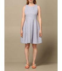 emporio armani dress emporio armani short dress in bouclé fabric